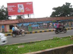 Roads of Bhubaneswar painted with mythological stories