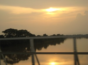 Daya River by the sunset