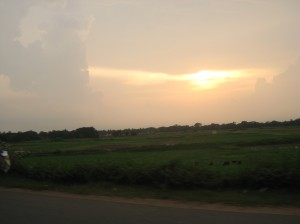 Drive Towards Puri: Last Rays of a Setting Sun