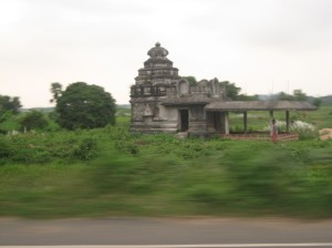 'Pan' shot of a temple on Puri highway