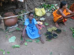 Jhuma selling wild berries