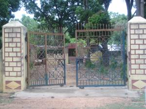 Gates of the deserted police outpost